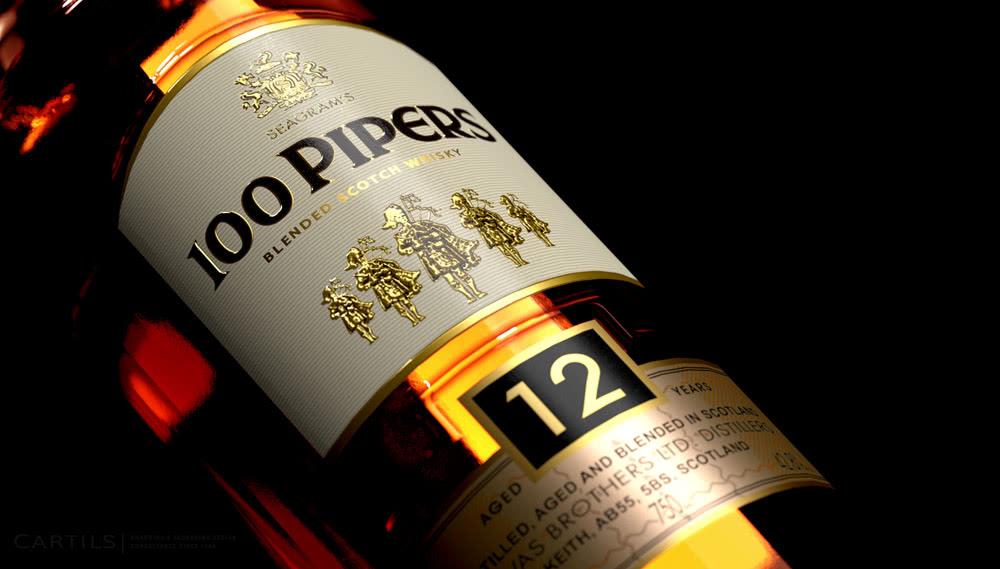 Виски 100 Pipers Сто Волынщиков