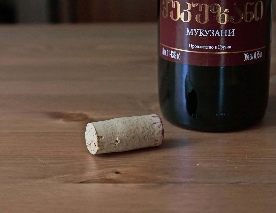 грузинское сухое красное вино Мукузани