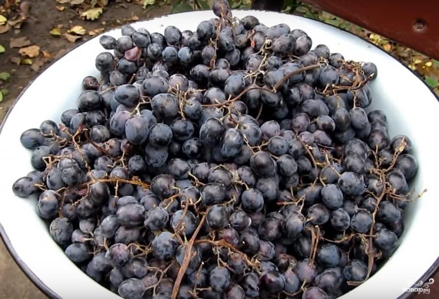рецепт Домашний самогон из винограда